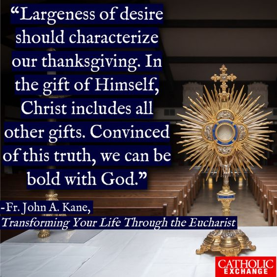 How We Can Give Thanks After Holy Communion